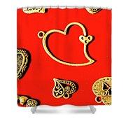 Romantic Heart Decorations Shower Curtain