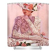 Romantic Lady Shower Curtain