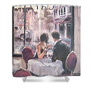 Romantic Meeting 3 Shower Curtain