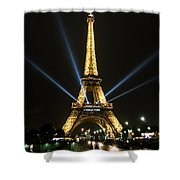Romantic Night In Paris Shower Curtain