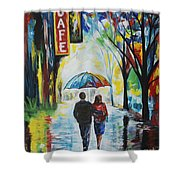 Romantic Night Out Shower Curtain