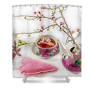 Romantic Pinks And Violets 1 Shower Curtain