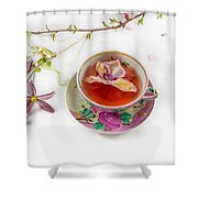 Romantic Pinks And Violets 2 Shower Curtain