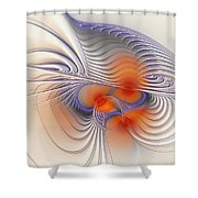 Romantic Sensual Lines Shower Curtain