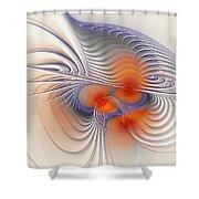 Romantic Sensual Lines Shower Curtain