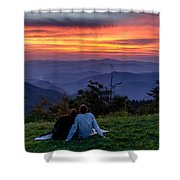 Romantic Smoky Mountain Sunset Shower Curtain