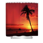 Romantic Sunset Shower Curtain by Melanie Viola