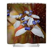 Romantic Textured Island Lilies  Shower Curtain