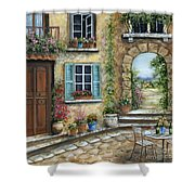 Romantic Tuscan Courtyard II Shower Curtain
