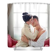 Romantic Victorian Couple Shower Curtain