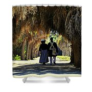 Romantic Walk 1870 Shower Curtain