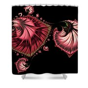 Romantically Jewelled Abstract Shower Curtain