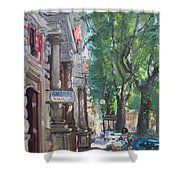 Rome A Small Talk By Barbiere Mario Shower Curtain