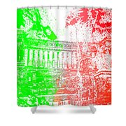 Rome - Altar Of The Fatherland Colorsplash Shower Curtain