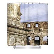Rome Arch Of Titus Sculpture Detail Shower Curtain