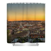 Rome At Sunset Shower Curtain