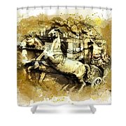 Rome Chariot  Shower Curtain