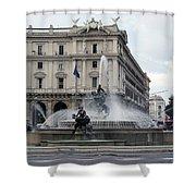Rome Italy Fountain  Shower Curtain