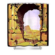 Rome, Italy, Rome Express Railway Shower Curtain