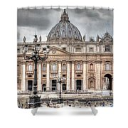 Rome Italy St. Peter's Basilica Shower Curtain