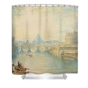 Rome Shower Curtain by Joseph Mallord William Turner