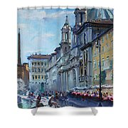 Rome Piazza Navona Shower Curtain