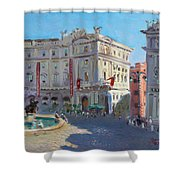 Rome Piazza Republica Shower Curtain