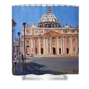 Rome Piazza San Pietro Shower Curtain