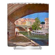 Rome Ponte Vittoria Emanuele Shower Curtain
