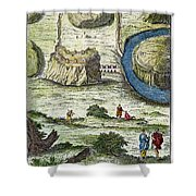 Rome: Seven Hills, 18th C Shower Curtain