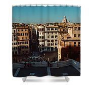 Rome Spanish Steps View Shower Curtain