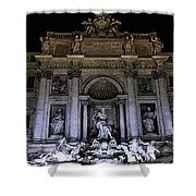 Rome, Trevi Fountain At Night Shower Curtain