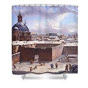 Rome Under The Snow Shower Curtain