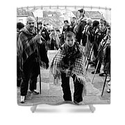 Romeiros Pilgrims Shower Curtain