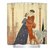 Romeo And Juliette Shower Curtain