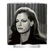 Romy Schneider Shower Curtain