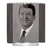 Ronald Reagan Charcoal Shower Curtain