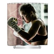 Ronda Rousey Mma Shower Curtain
