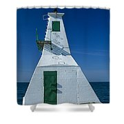 Rondeau Lighthouse Shower Curtain