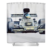 Ronnie Peterson - Lotus 76 Shower Curtain