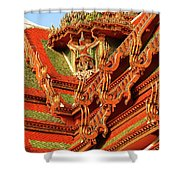 Roof Of Buddhist Temple In Thailand Shower Curtain