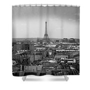 Roof Of Paris. France Shower Curtain