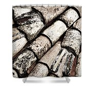 Roof Tile Abstract Shower Curtain