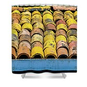Roof Tile Shower Curtain