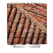 Roof Tiles And Mortar  Shower Curtain