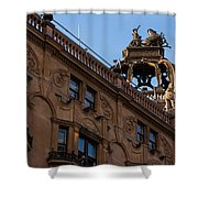Rooftop Chariots And Horses - The Hippodrome Casino Leicester Square London U K Shower Curtain