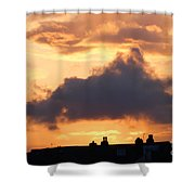 Rooftop Sunset 2 Shower Curtain