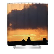 Rooftop Sunset Shower Curtain