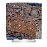 Rooftops And Cafes Of Il Campo Shower Curtain