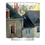 Rooftops, Chateaubriant Shower Curtain